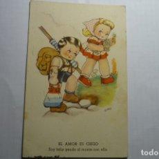 Postales: POSTAL EL AMOR ES CIEGO .-DIBUJO BOMBON -CIRCULADA . Lote 180265711
