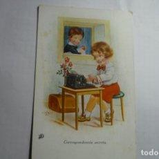 Postales: POSTAL DIBUJO HOZAHL SECRETARIA ESCRITA. Lote 180267603