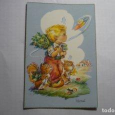 Postales: POSTAL NIÑO PLATILLO VOLANTE - DIBUJO VERNET -ESCRITA. Lote 180337911