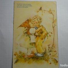 Postales: POSTAL NIÑOS BESANDOSE -ESCRITA . Lote 180340067
