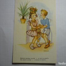 Postales: POSTAL NIÑOS BAILANDO - DIBUJO GIRONA -ESCRITA SERIE 3060. Lote 180465532