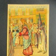 Postales: POSTAL FRASES TORERAS EN ACCIÓN. LANCES DE CAPA. UNA VERÓNICA. SERIE 1, NÚM. 12. . Lote 180481777