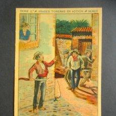 Postales: POSTAL FRASES TORERAS EN ACCIÓN. LANCES DE CAPA. GALLEAR. SERIE 2, NÚM. 13. . Lote 180481821