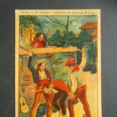 Postales: POSTAL FRASES TORERAS EN ACCIÓN. BANDERILLAS. UN BUEN PAR DE PALOS. SERIE 2, NÚM. 22. . Lote 180482171