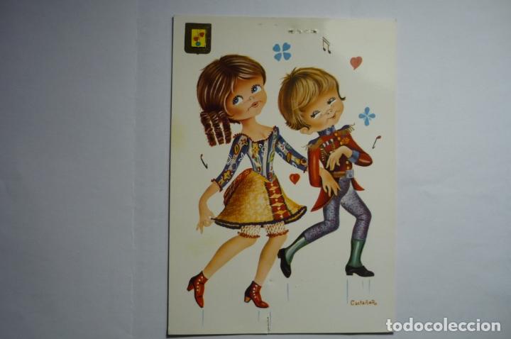 POSTAL BAILARINES.-DIBUJO CASTAÑER - ESCRITA (Postales - Dibujos y Caricaturas)