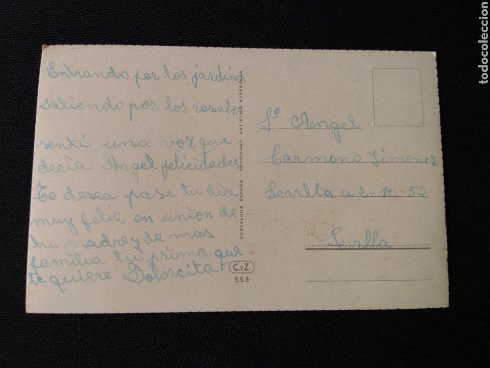 Postales: Tarjeta postal niños con flor Editorial CYZ 558 - Foto 2 - 182006337