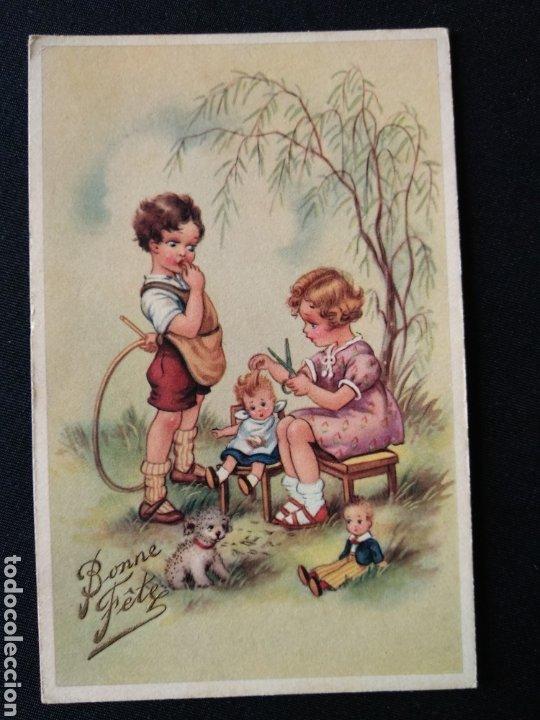 TARJETA POSTAL NIÑOS CON JUGUETES EDITORIAL COLOPRINT B (Postales - Dibujos y Caricaturas)