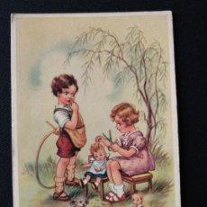 Postales: TARJETA POSTAL NIÑOS CON JUGUETES EDITORIAL COLOPRINT B. Lote 182006573