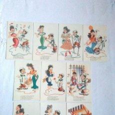 Postales: COLECCION 10 POSTALES SIN CIRCULAR CANTINFLERIAS (CANTINFLAS) EDICIONES DE ARTE EDITORIAL ARTIGAS. Lote 182175921