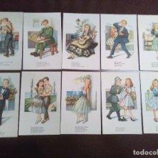 Postales: COLECCION 10 POSTALES SIN CIRCULAR MELODIAS SELECTAS ME TIENES QUE QUERER EDICIONES DE ARTE. Lote 182183553