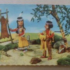 Postales: POSTAL 310/2 NUEVA, TROQUELADA.ESCENA INDIOS. Lote 182370655