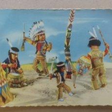Postales: POSTAL 310/1 NUEVA, TROQUELADA. ESCENA INDIOS. Lote 182370707
