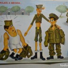 Postales: POSTAL SOLDADOS .-DIBUJO MUR ESCRITA. Lote 183482795