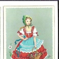 Postales: 3 BONITAS POSTALES ANTIGUAS DE - NIÑAS - COLECCION - LA PALOMITA DE 1.959 - NUEVAS. Lote 184032993