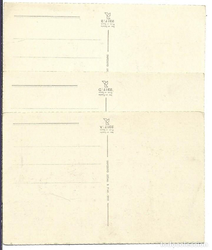 Postales: 3 BONITAS POSTALES ANTIGUAS DE - NIÑAS - COLECCION - LA PALOMITA DE 1.959 - NUEVAS - Foto 4 - 184032993