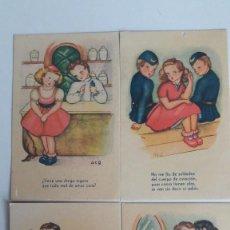Postales: 4 POSTALES EDICIONES MONFORT (VALENCIA). SERIE 2. ILUSTRADAS POR ACG. SIN CIRCULAR. Lote 184045381