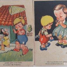Postales: 2 POSTAL EDICIONES JBR. SERIE 7. (JAIMITO). ILUSTRADAS POR JORGE RIBERA. SIN CIRCULAR. Lote 184046661
