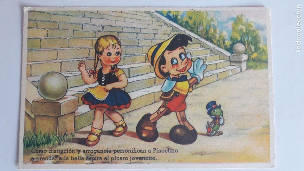1 POSTAL EDICIONES COLÓN. SERIE 107 (PINOCHO). CONCESION EXCLUSIVA DISNEY. SIN CIRCULAR (Postales - Dibujos y Caricaturas)