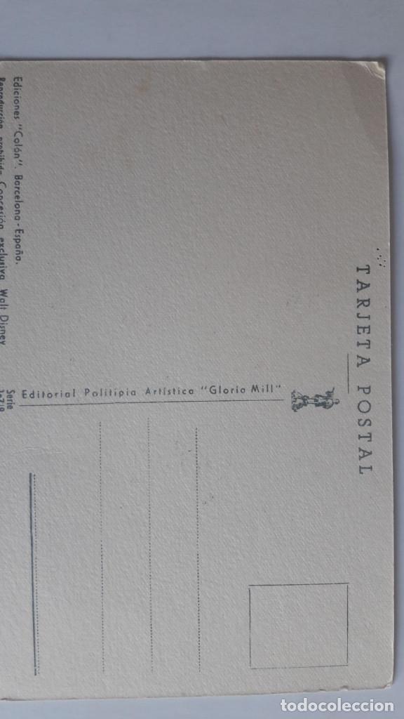 Postales: 1 POSTAL EDICIONES COLÓN. SERIE 107 (PINOCHO). CONCESION EXCLUSIVA DISNEY. SIN CIRCULAR - Foto 2 - 184048806