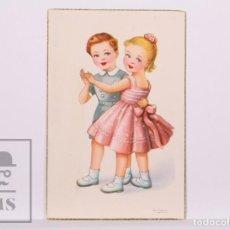 Postales: POSTAL ILUSTRADA POR GIRONA - NIÑOS BAILANDO. SERIE 113 E - AÑOS 50. Lote 185981880