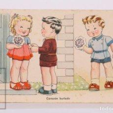 Postales: POSTAL ILUSTRADA POR BOMBÓN - CORAZÓN BURLADO. ÉXITOS DE LA PANTALLA, SERIE 105 - ARTIGAS / IKON. Lote 185983311