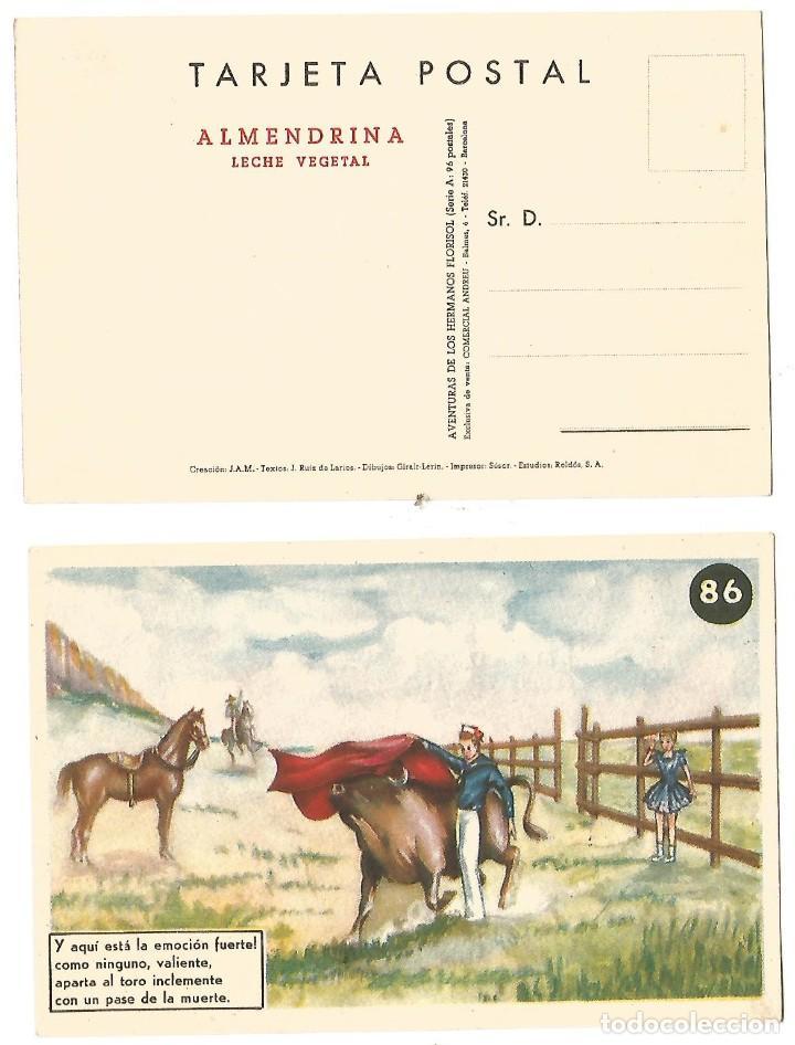 TARJETA POSTAL ALMENDRINA LECHE VEGETAL DIBUJO CARICATURA ILUSTRADA GIRALT - LERIN NE NC (Postales - Dibujos y Caricaturas)