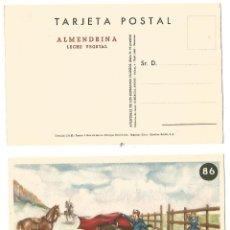 Postales: TARJETA POSTAL ALMENDRINA LECHE VEGETAL DIBUJO CARICATURA ILUSTRADA GIRALT - LERIN NE NC. Lote 269055033