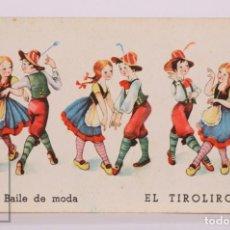 Postales: POSTAL ILUSTRADA POR FARINYES - EL TIROLIRO, BAILE DE MODA - AÑOS 40. Lote 186299697