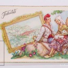 Postales: POSTAL ILUSTRADA POR FREIXAS - PASTORES DE MONTSERRAT. SERIE 314 - CREACIONES FREIXAS - CATALUÑA. Lote 186300317