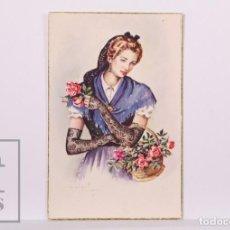 Postales: POSTAL ILUSTRADA POR J. GISBERT SOLER - TRAJE REGIONAL CATALUÑA - 557/A - Nº 2 - C Y Z. Lote 186300647