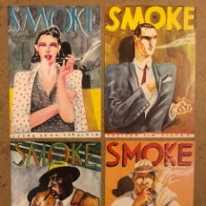 Postais: COLECCIÓN SMOKE DE JAVIER DE JUAN. 4 POSTALES SIN CIRCULAR SOMBRAS EDICIONES (1985).. Lote 187395695