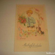 Postales: POSTAL DE MUCHAS FELICIDADES . ED. FENIX , SERIE 3008. ESCRITA 1949.. Lote 187985815