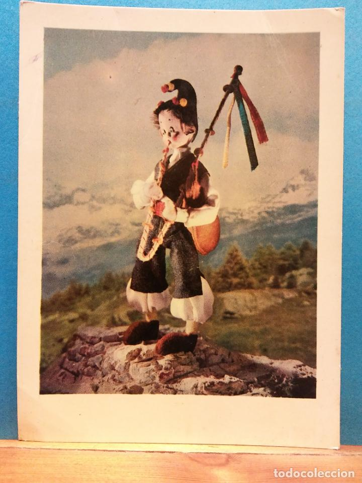 ASTURIAS, ESPAÑA. TRAJE TIPICO REGIONAL. MUÑECOS ORIGINALES DE NISTIS. BONITA POSTAL. NUEVA (Postales - Dibujos y Caricaturas)
