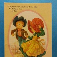 Postales: NIÑOS JUGANDO EN EL CAMPO. BONITA POSTAL. NUEVA. Lote 188451797