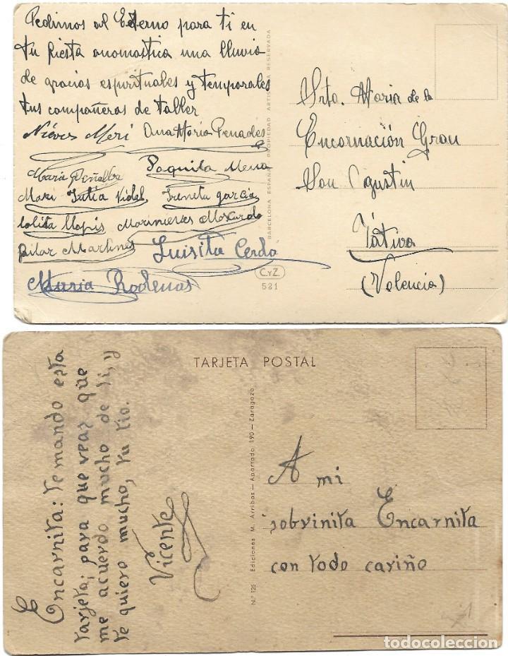 Postales: LOTE 9 POSTALES CON DIBUJOS MANUSCRITAS Y SIN CIRCULAR AÑOS 40 TODAS ESPAÑOLAS - Foto 3 - 188588620
