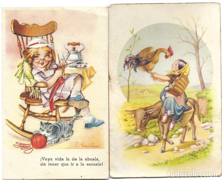 Postales: LOTE 9 POSTALES CON DIBUJOS MANUSCRITAS Y SIN CIRCULAR AÑOS 40 TODAS ESPAÑOLAS - Foto 6 - 188588620