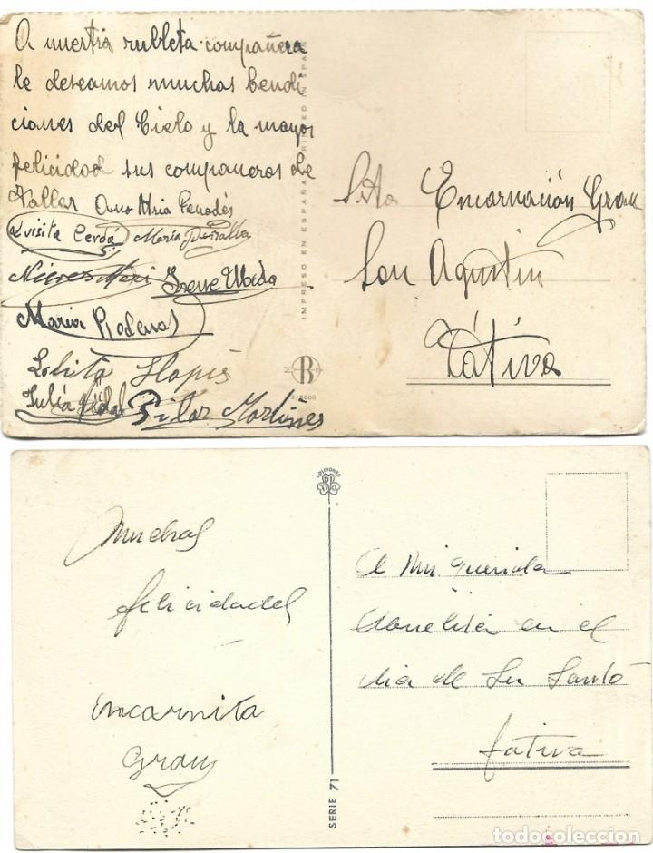 Postales: LOTE 9 POSTALES CON DIBUJOS MANUSCRITAS Y SIN CIRCULAR AÑOS 40 TODAS ESPAÑOLAS - Foto 7 - 188588620