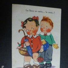 Postales: NIÑOS POSTAL CARICATURA ILUSTRADA AÑOS 30. Lote 190727553