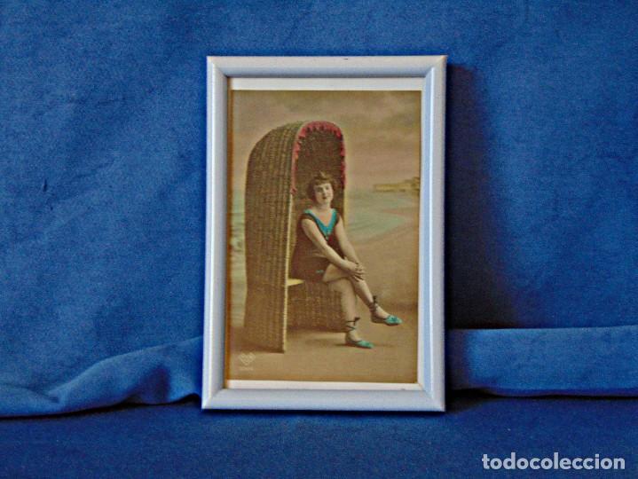 Postales: TRES POSTALES ILUSTRADAS SIN CIRCULAR ENMARCADAS. MEDIDAS 11 X 16 CM. - Foto 2 - 190753096