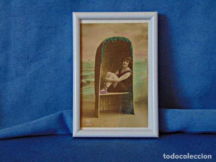 Postales: TRES POSTALES ILUSTRADAS SIN CIRCULAR ENMARCADAS. MEDIDAS 11 X 16 CM. - Foto 3 - 190753096