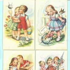 Postales: SEIS POSTALES DE DIBUJOS DE NUÑOS DE DIBAJO DE GIRONA Y EDITADA POR PAJARITA Nº 2345 / B. Lote 190976623