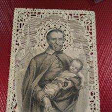 Postales: ESTAMPA CALADA O DE PUNTILLA. SAN VICENTE PAUL.. Lote 191261481