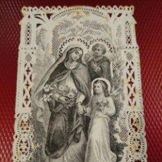Postales: ESTAMPA CALADA O DE PUNTILLA. NIÑO MARÍA, MADRE DE JESÚS. JOURDAIN 156. Lote 191261615