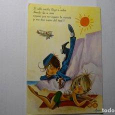 Postales: POSTAL AVIADOR Y BAÑISTA.-DIBUJO ASUN --ESCRITA C Y Z 8138-31 A. Lote 191661070