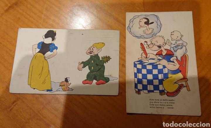 LOTE POSTALES POPEYE Y BLANCA NIEVES. VED REVERSO. (Postales - Dibujos y Caricaturas)