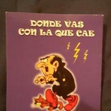 Postales: TARJETA POSTAL PUBLICITARIA CON GARGAMEL Y AZRAEL DE LOS PITUFOS. Lote 192465650
