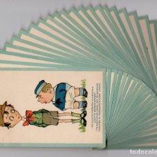 Postales: DIBUJOS HUMORÍSTICOS. LOTE DE 22 POSTALES ANTIGUAS -CMB SERIE Nº 5-. Lote 192720112