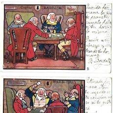 Postales: P-9977. PAREJA DE POSTALES COGNAC BARBIER.PRINCIPIOS S.XX.. Lote 192794413
