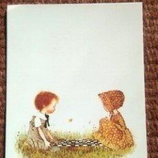 Postales: NIÑOS JUGANDO A LAS DAMAS - HOLLY HOBBIE. Lote 193996180