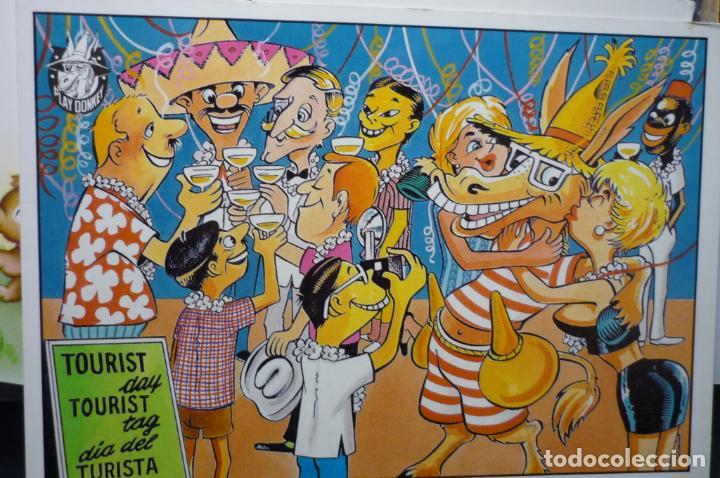 POSTAL HUMOR DIBUJO HILARIO TURISTAS (Postales - Dibujos y Caricaturas)